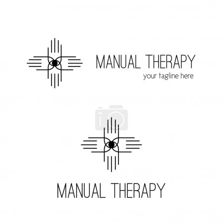 Illustration for Manual therapy and chiropractic logotype and brand identity. - Royalty Free Image