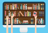 Online library conceptual illustration