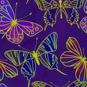 Seamless Watercolor Butterfly Pattern