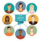 social network  avatar symbols