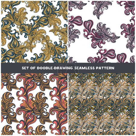 Abstract  Seamless Patterns Set