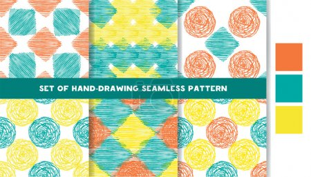 Set of colored Seamless Patterns