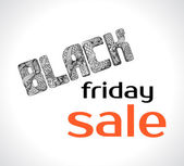 Black friday sale painted decorative fonts Big Discounts and Sales Black Friday Ornamental Inscription