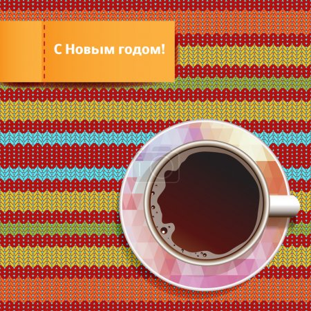 Happy New Year on Russian, Card