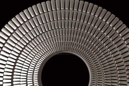 glänzende Metallringe abstrakter Hintergrund
