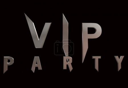 Vip Parti logo isolated on black background