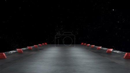 Photo pour Environnement spatial, prêt pour la maquette de votre rendu characters.3d - image libre de droit