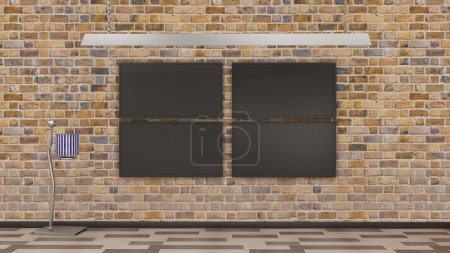 Photo for TV display rendered in 3d - Royalty Free Image