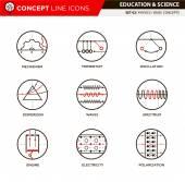 Concept Line Icons Set 3 Physics