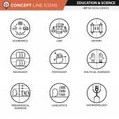 Concept Line Icons Set 10 Social sciences
