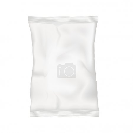 White blank pouch. Mock up template