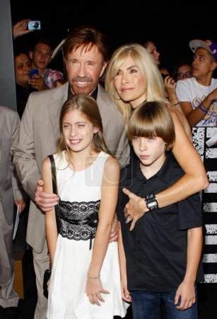 Chuck Norris with family