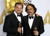 Alejandro Gonzalez Inarritu and Leonardo DiCaprio