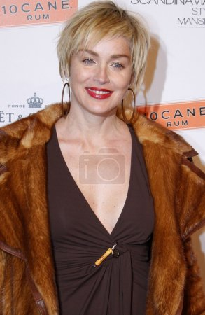 Photo for Actress Sharon Stone at the Scandinavian Style Mansion held at the Private Residence in Bel Air, California, United States on December 1, 2007 - Royalty Free Image