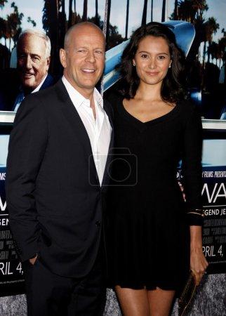 Poster: Bruce Willis and Emma Heming