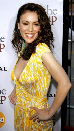 """Photo for WESTWOOD, CA, USA - MAY 22, 2006: Alyssa Milano attends the Los Angeles Premiere of """"The Break-Up"""" held at the Mann Village Theatre in Westwood. - Royalty Free Image"""