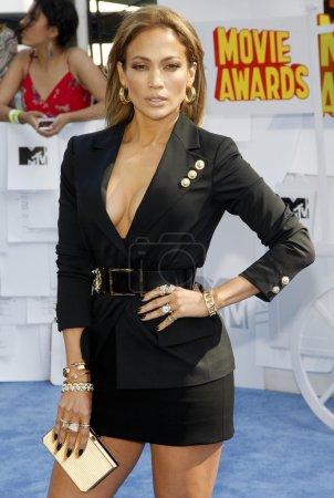 Foto de Estados Unidos, California, Los Ángeles, 12 de abril de 2015: Jennifer Lopez en el 2015 Mtv Movie Awards celebrada en el Nokia Theatre L.A. Live en Los Angeles, Estados Unidos - Imagen libre de derechos