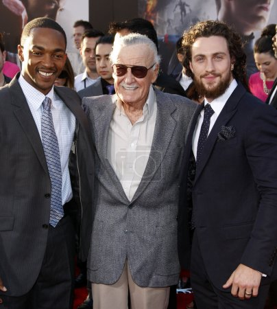 Anthony Mackie Stan Lee and