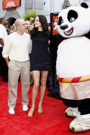 Angelina Jolie and Jeffrey Katzenberg