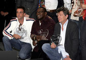 Carlos Ponce, Randy Jackson and David Foster