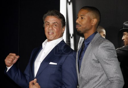 Sylvester Stallone and Michael B