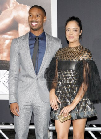 Tessa Thompson and Michael B