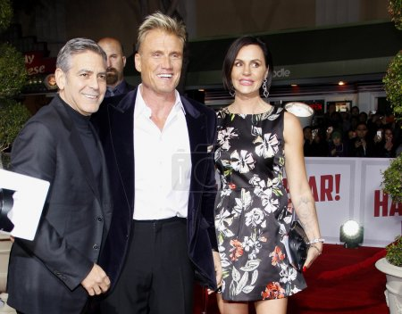 George Clooney Dolph Lundgren and