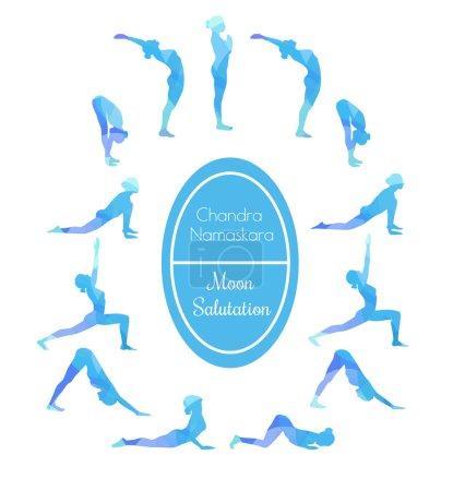 Yoga exercise Moon salutation