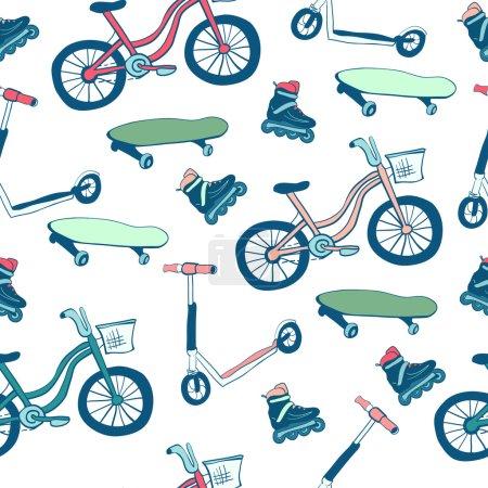 Wheeled sports equipment.