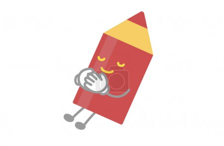 Illustration for Cute red pen character sleeping vector illustration - Royalty Free Image