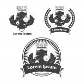 Logo with car engine simple vector illustration