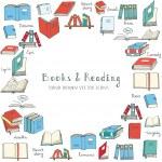 Постер, плакат: Books icons set