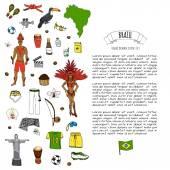 Brasilien Icons set
