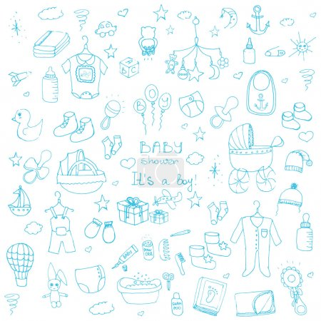 baby shower design icons