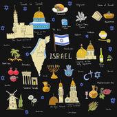 hand drawn Israel icons