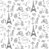 Bezešvé pozadí s francouzským ikon
