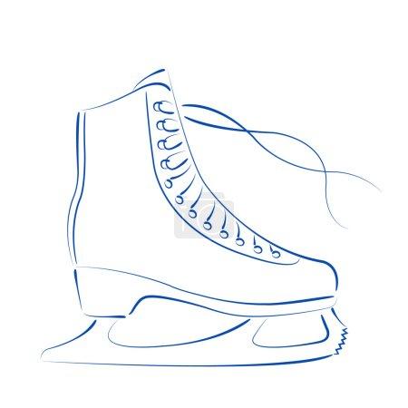 Sketched ice skates.