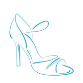 Sketched woman s shoe