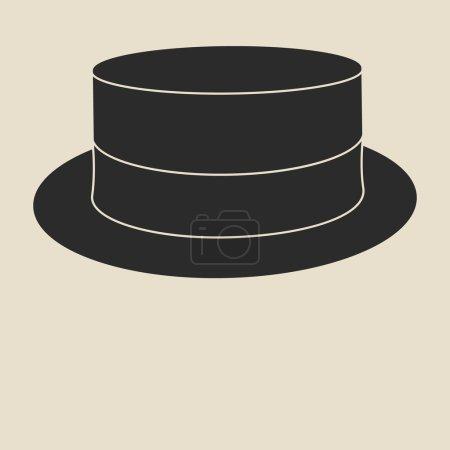 Vintage man s boater hat label. Design template fo...