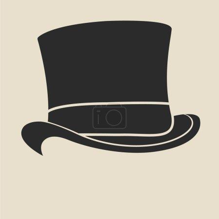 Top hat illustration.