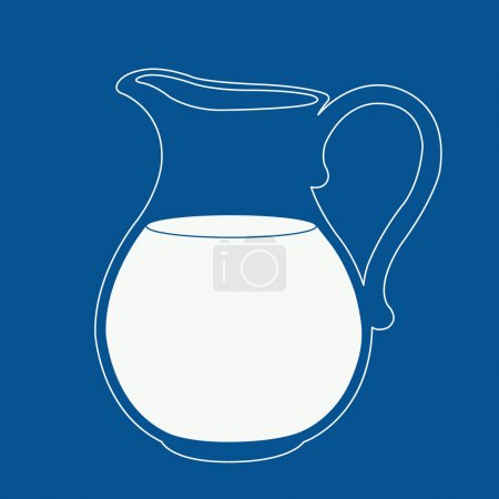 Milk jug illustration.