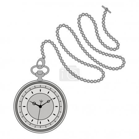 Pocket watch illustration.