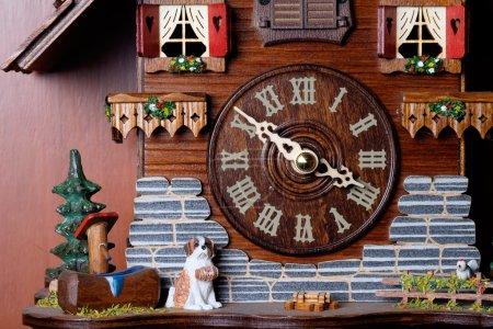 Cuckoo clock with birdie