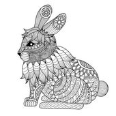 Drawing zentangle  rabbit