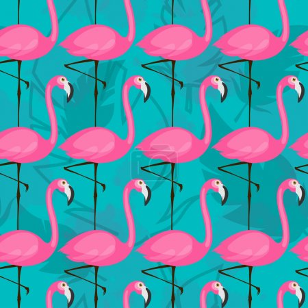 bright flamingo pattern