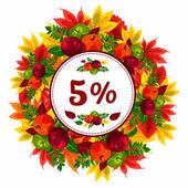 The frame of autumn leaves Season discounts