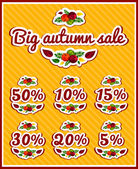 Stickers labels for sale Yellow beautiful leaves apples Vintage