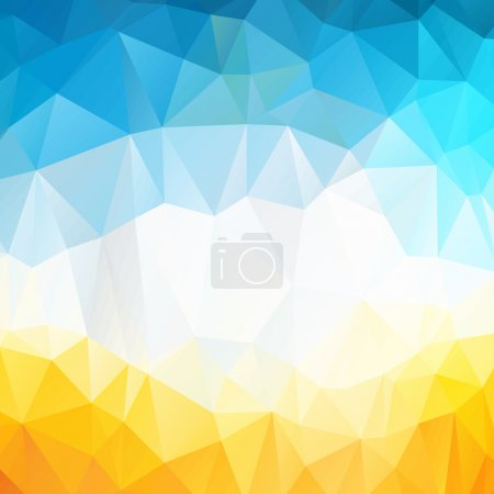 Colorful swirl rainbow polygon background or vector frame. Abstract Triangle Geometrical Background, Vector Illustration EPS10. Geometric design for business presentations. yellow, blue, white.