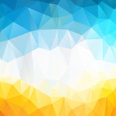 Colorful swirl rainbow polygon background or vector frame Abstract Triangle Geometrical Background Vector Illustration EPS10 Geometric design for business presentations yellow blue white