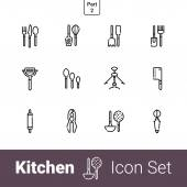 Sada ikon kuchyňské linky